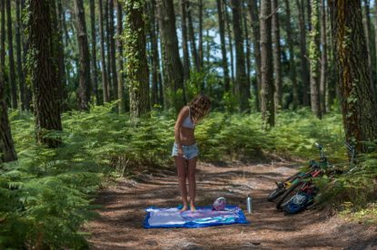 French Picnic in the woods