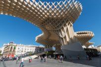 Overhead bridge/piece of art in Sevilla