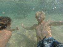 Us underwater in Sri Lanka