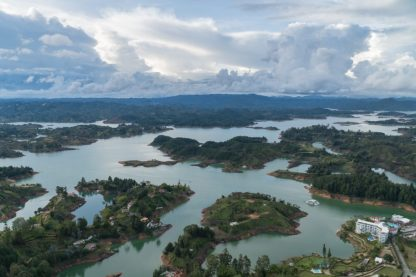 Guatape water reservoir from above!