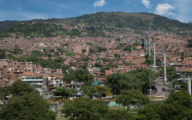 Metrocable over the favelas