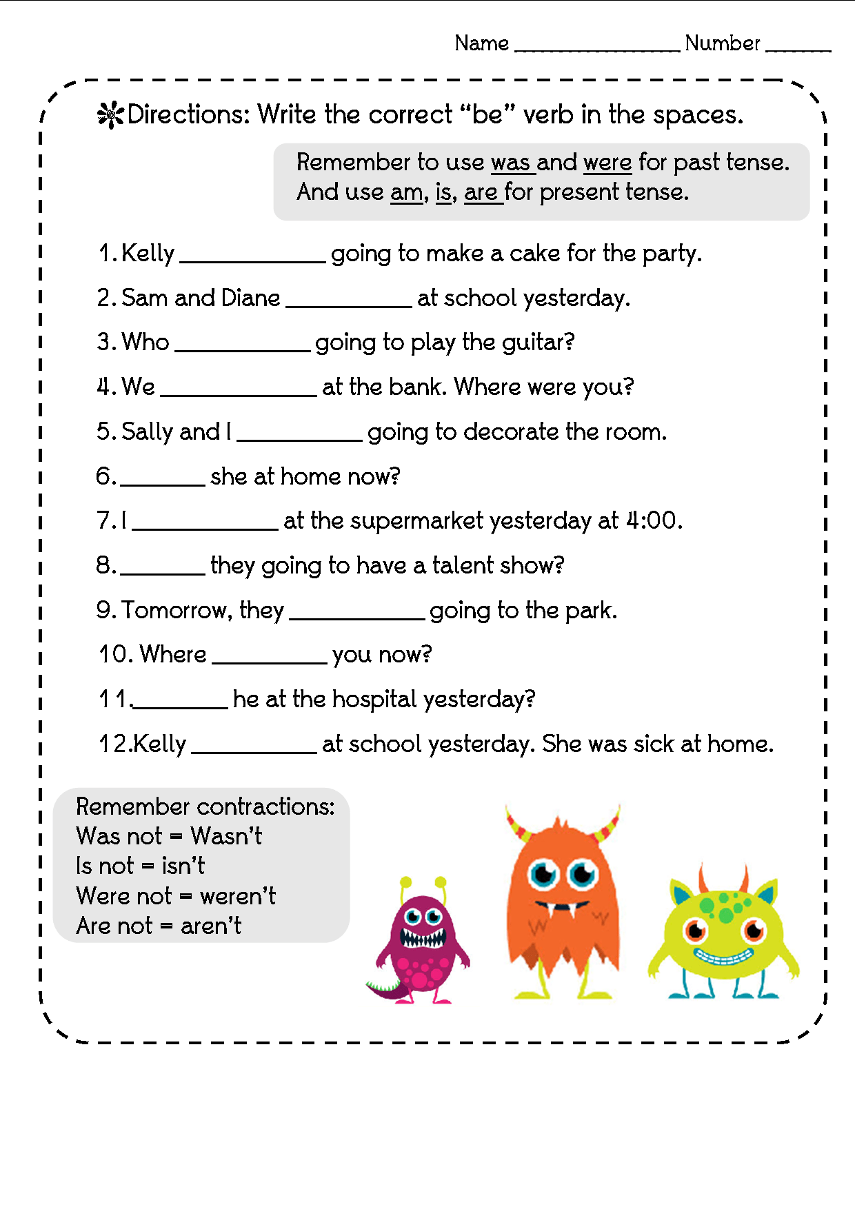 Past Present Future Tenses Worksheets