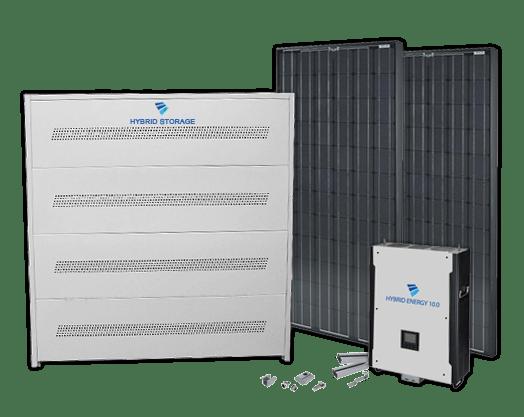 Økonomien ved hybrid solcelleanlæg
