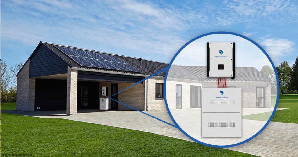 Placeringen af et Hybrid solcelleanlæg