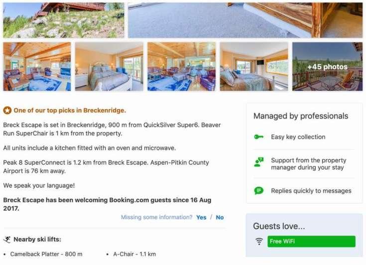 專業管理(頁面示意)讓住宿脫穎而出的功能(圖片由Booking.com提供)