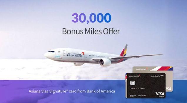 Asiana Visa Signature Credit Card Benefits