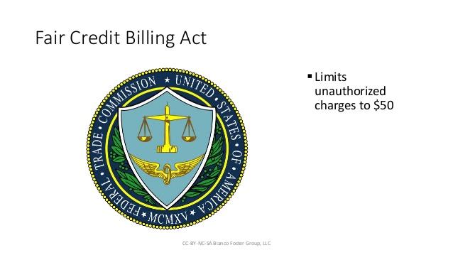 What Fair Credit Billing Act (FCBA) Billing Error Covers