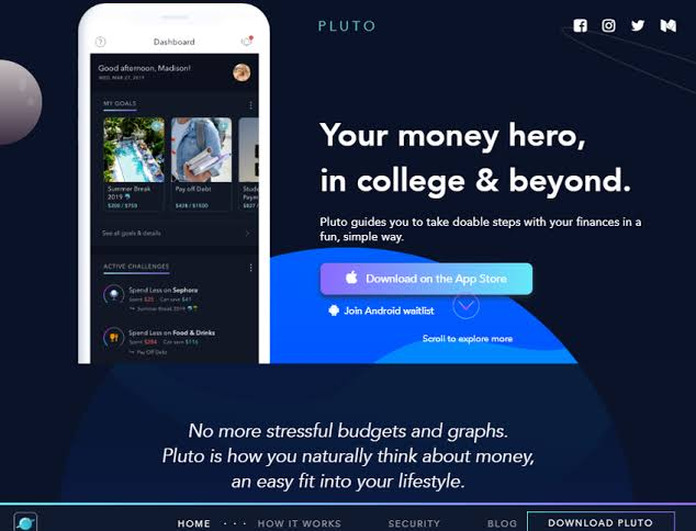 Pluto Money App: How it Saves Your Money as a Student
