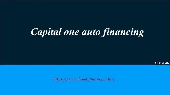 How to Apply for a Capital One Car Loan