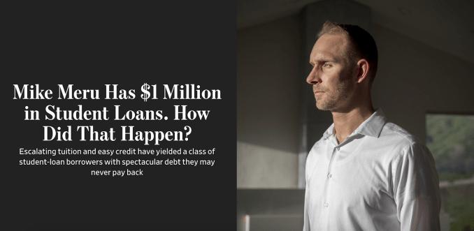 Dr. Meru Student Loan Debt