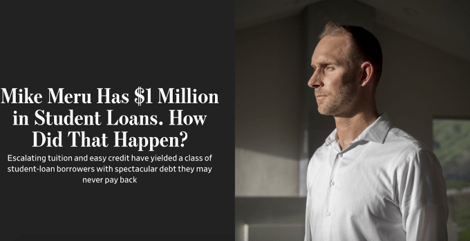 Dr. Meru Student Loan Debt worths $1 Million on Dental Loans. Why?