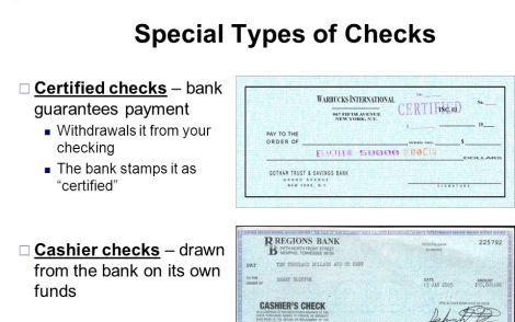 Certified Check vs. Cashier's Check