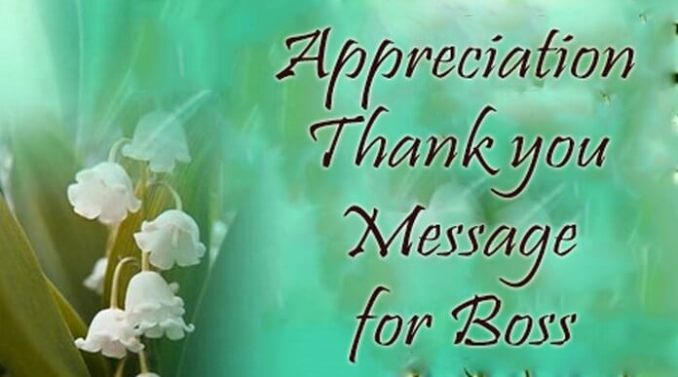 Thank You Messages for Boss: