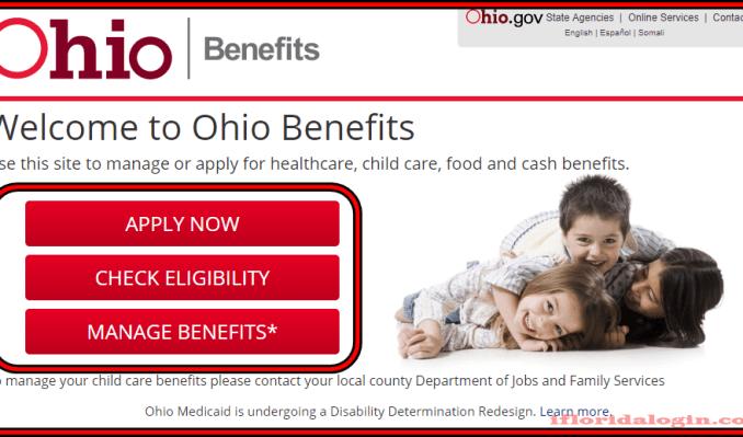 login to your Benefits.ohio.gov account