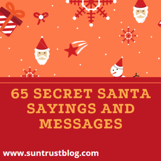 Secret Santa Sayings and Messages