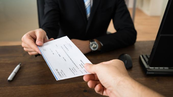 Money Order and a Cashier's Check: