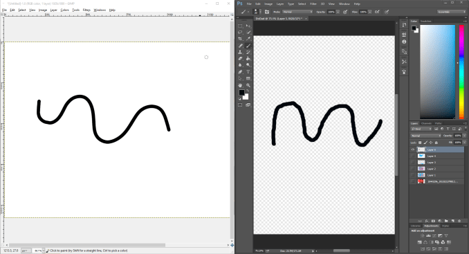 Combine Straight and Curved Lines in Photoshop