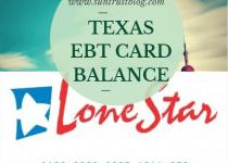 Texas EBT Card Balance
