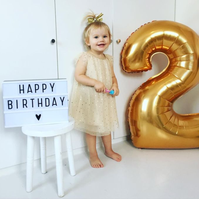 2 years is a long time. I can't believe you are complete grown. You can walk! Happy birthday!