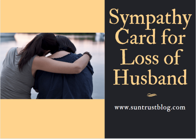 Sympathy Card for Loss of Husband