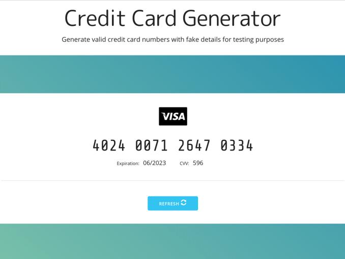 Credit Card Number Generator Review