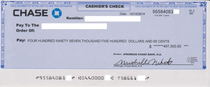 Chase Cashiers Check Policy: What is the Chase Bank Cashier's Check?