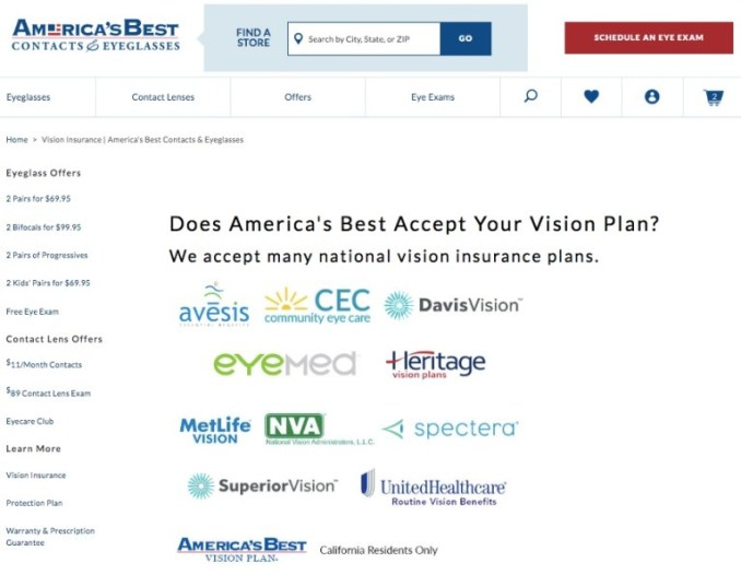 America's Best Glasses and Contacts Review 2020