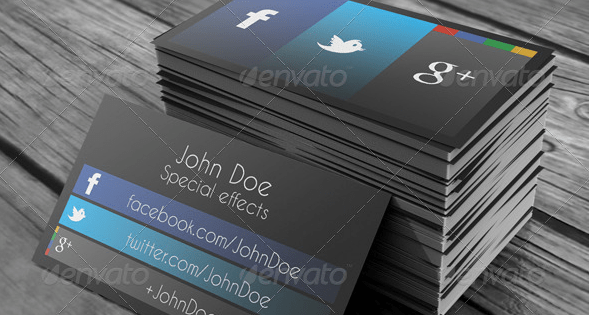 How to put Social Media Icons Into Your Business Card