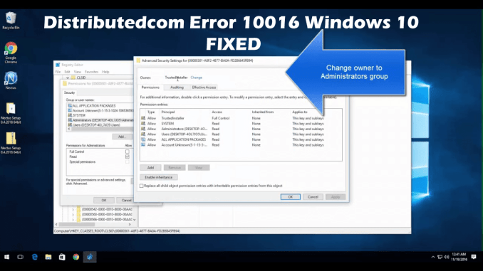 How to Fix the DCOM Error 10016