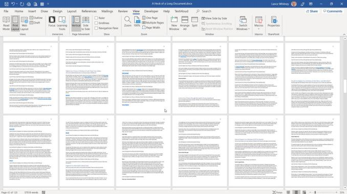How to arrange pages in Word Documents
