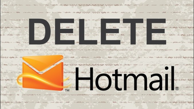 How to Delete Your Hotmail Account Permanently
