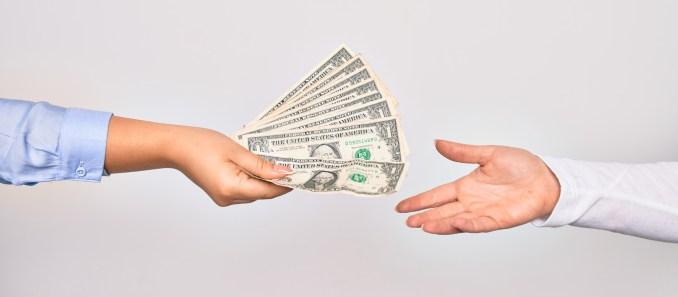 people giving away money