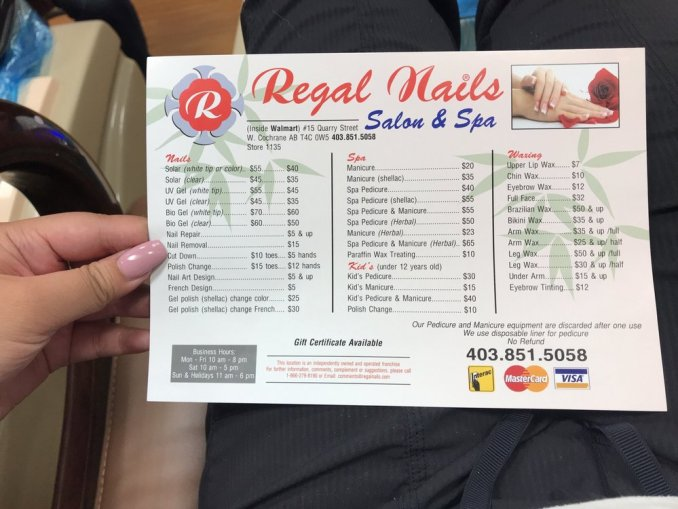 Services Offered at Regal Nails