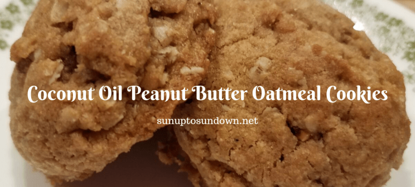 Coconut Oil Peanut Butter Oatmeal Cookies