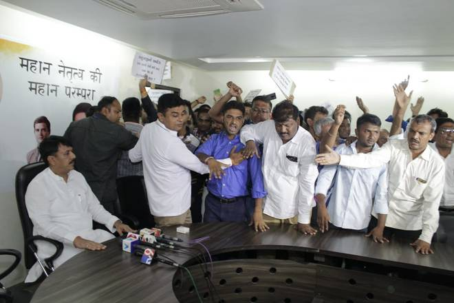 Senior legislators in Congress's Gujarat unit expressed their unhappiness with the leadership in the state and workers resigned, a day after the party declared the names of its presidents for at least 10 districts.
