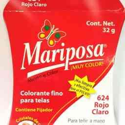 MARIPOSA CRISTALES ROJO CLARO 624 DOCENA