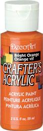 DecoArt Acrylic Paint Bright Orange DOCENA