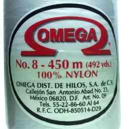 HILO NYLON OMEGA #8 450m 12PZ BLANCO C13 BLANCO