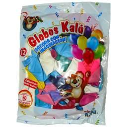 GLOBOS KALU #12 50PCS SURTIDO