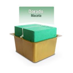 BASE CLICK MACETA DOCENA DORADO