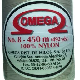 HILO NYLON OMEGA #8 450m 12PZ CREMA C85