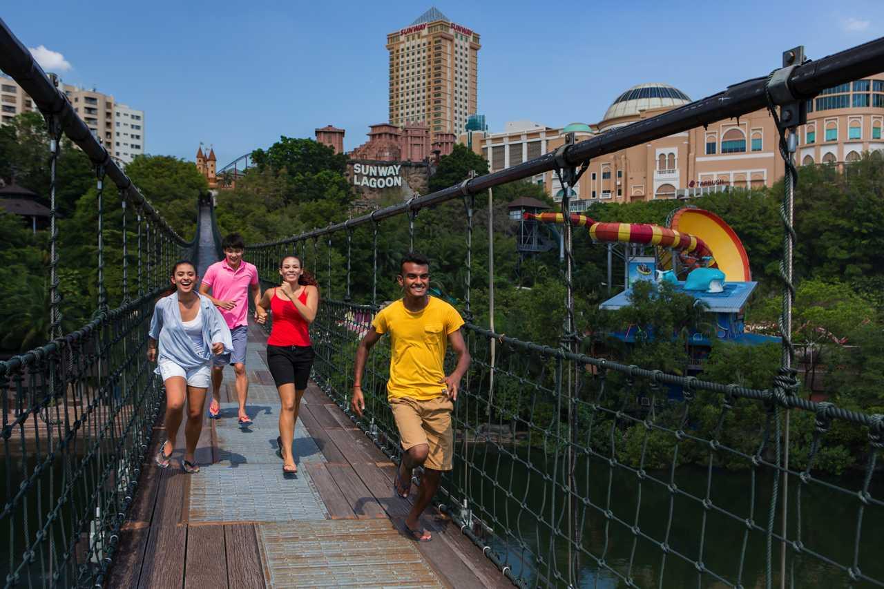Suspension Bridge - Adventure Park at Sunway Lagoon Theme Park