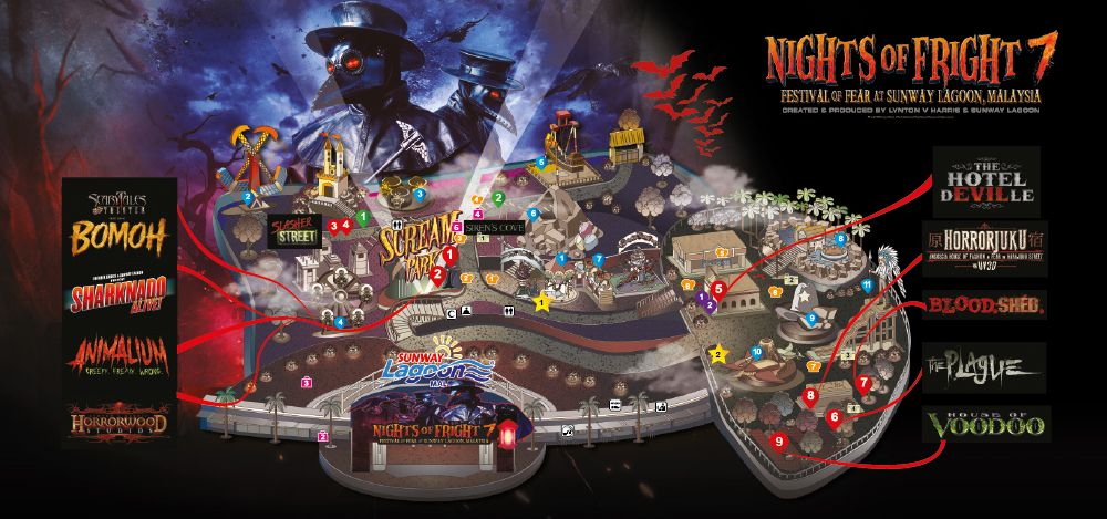 Nights of Fright 7 Event Map