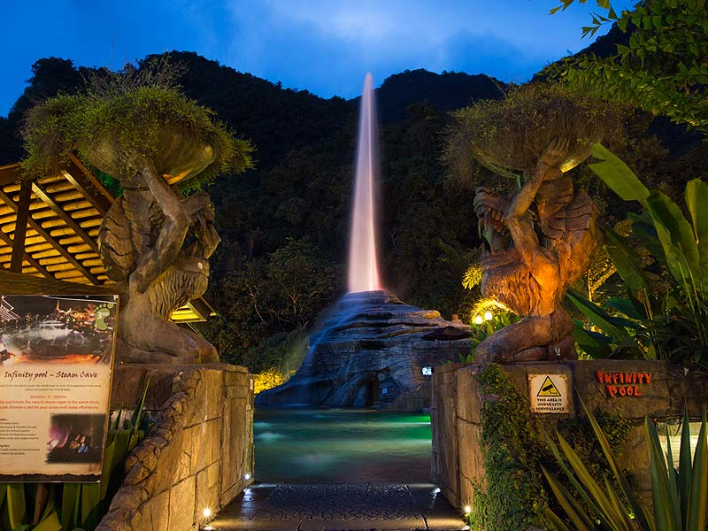 The Geyser Of Tambun- Lost World Hot Springs & Spa By Night