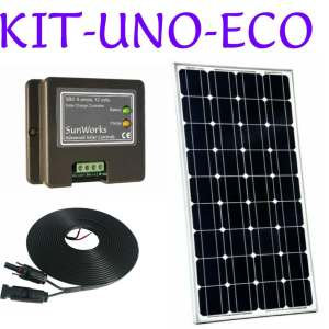 Solar panel kits. ECO. Single battery
