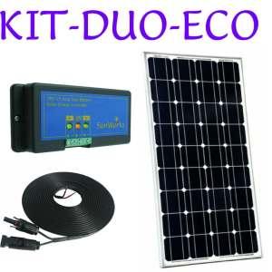 Solar panel kits. Economy range. Dual battery
