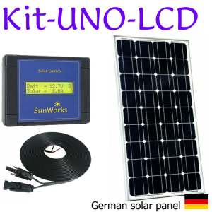 Solar panel kits. Premium. Single battery