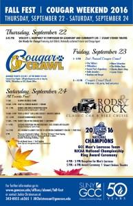 Cougar Weekend Fall Fest &  Homecoming @ Batavia Campus & Downtown Batavia   Batavia   New York   United States