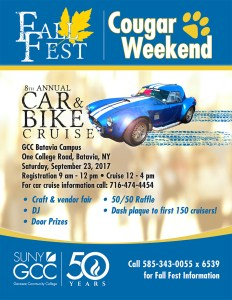 Fall Fest/Cougar Weekend - Tour New Buildings, Car Cruise & More! @ Genesee Community College | Batavia | New York | United States