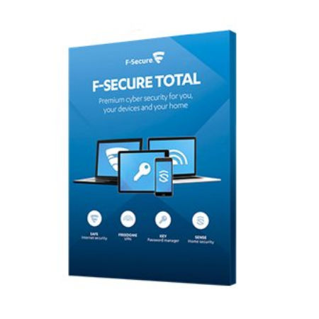 F-Secure Total – Tilauslisenssi (2 vuotta) – enintään 5 laitetta – (ESD)